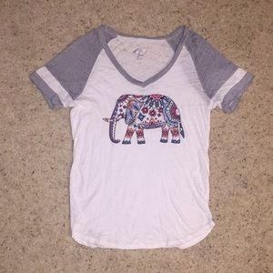 Almost Famous elephant Jersey Tee